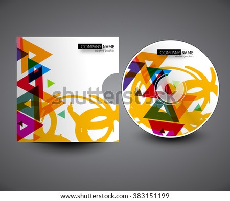 Professional CD cover presentation design template , editable vector illustration - stock vector