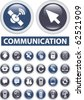 professional communication buttons. vector - stock vector