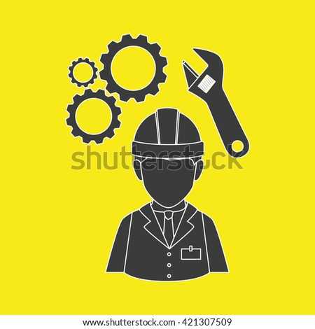 professional construction design  - stock vector