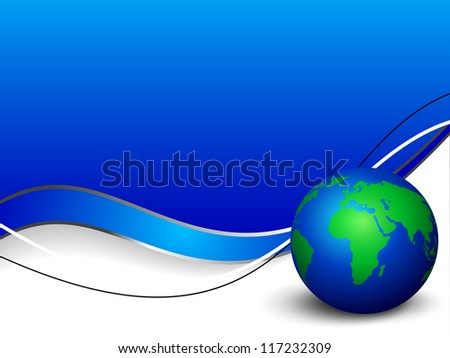 Professional Corporate or Business template for financial presentations showing globe. EPS 10. - stock vector