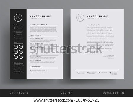 Template Cover Letter Design Free Black Professional Resume Fondul on