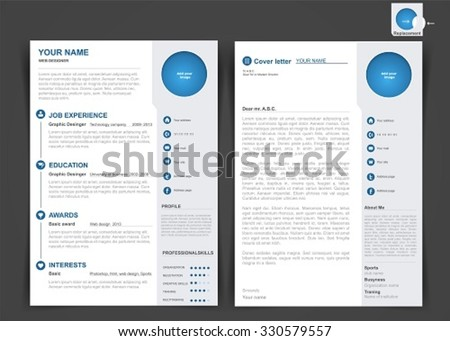 Professional cv resume template two pages professional cv resume template of two pages a4 size yelopaper Gallery