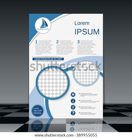Professional flyer design. Brochure, business report, magazine cover, banner, presentation, poster vector template