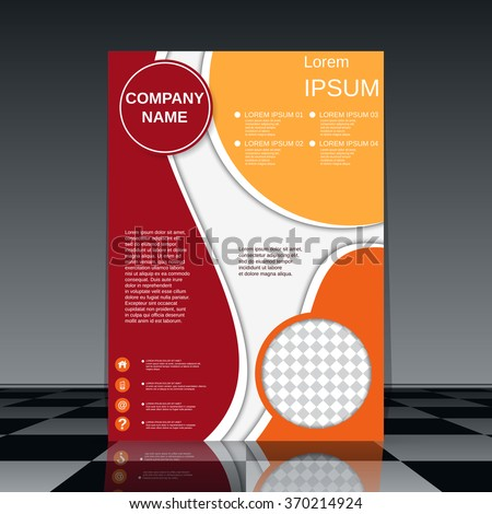 Professional Flyer Template Brochure Business Report Stock Photo