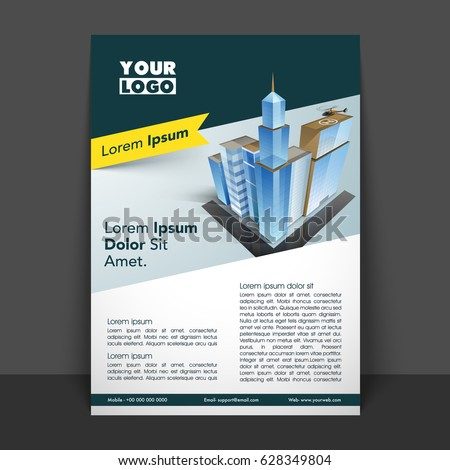 Professional Flyer Template Design Business Concept Stock Vector Hd