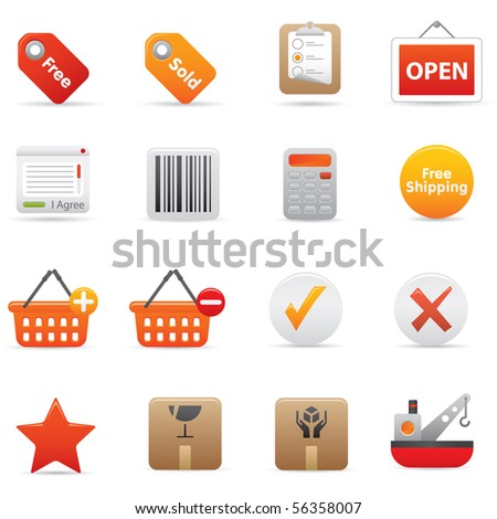 Professional icons for your website, application, or presentation. - stock vector
