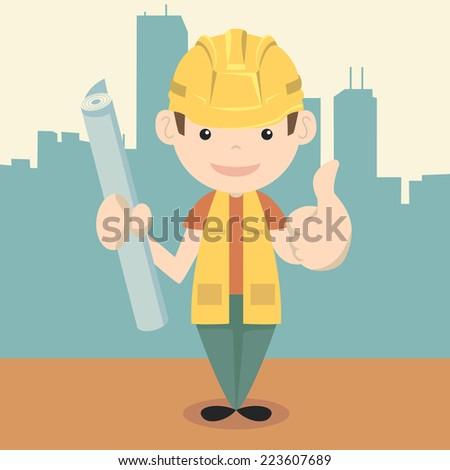 Professional man, vector illustration - stock vector