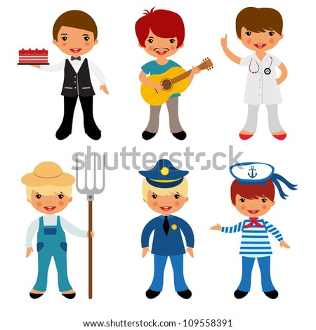Professional occupations - stock vector