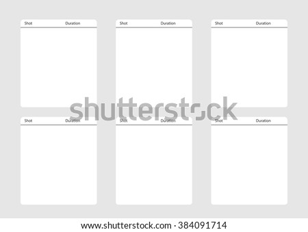 Professional Square Storyboard Template Convenience Present Stock