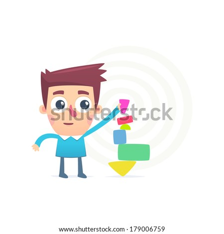 professional of the business - stock vector