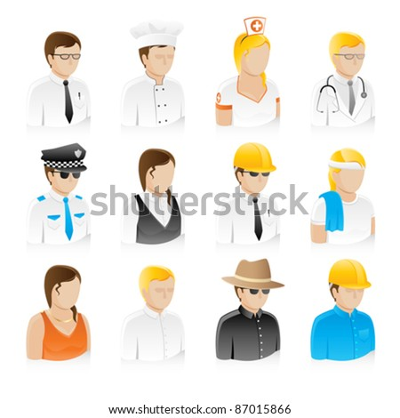 Professional People Collection Set (EPS8) - stock vector