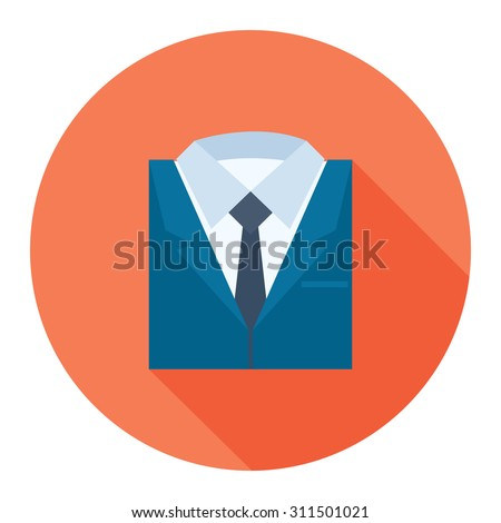 professional suit icon - stock vector