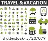 professional travel & vacation signs. vector - stock vector