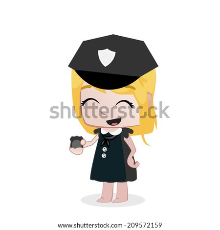 Professions Vector Girls - stock vector