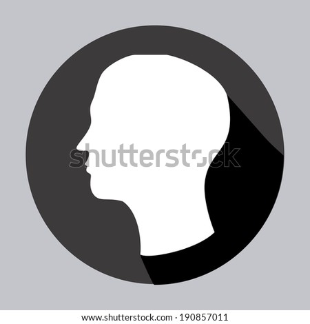 Profile design over gray background, vector illustration