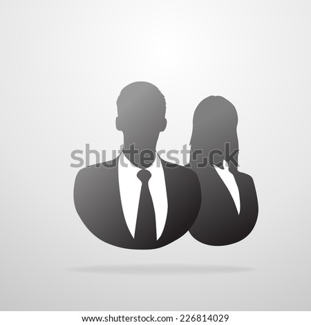 profile icon male and female business portrait silhouette - stock vector