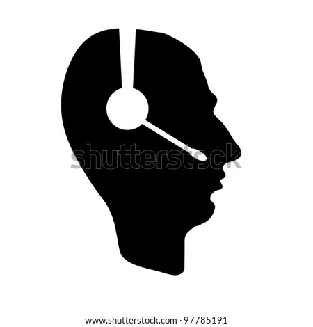 profile of people with headphones. business icon