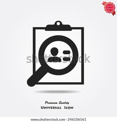 profile resume icon - stock vector