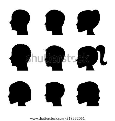 profiles graphic design , vector illustration - stock vector