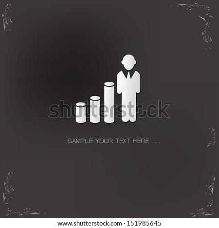 Profit human symbol,vector - stock vector