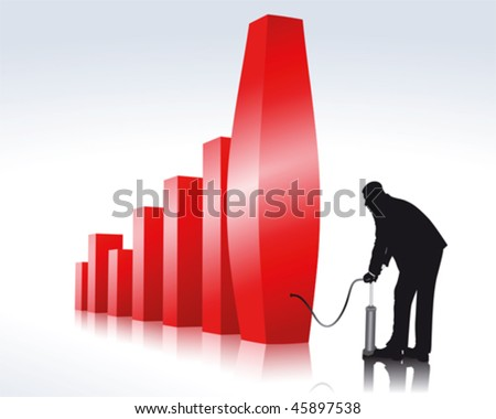 Profit maximization - stock vector