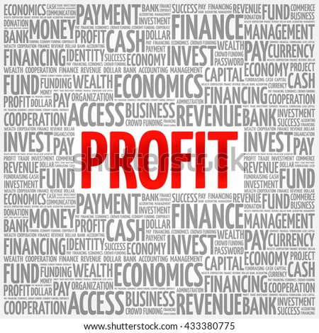 PROFIT word cloud, business concept - stock vector