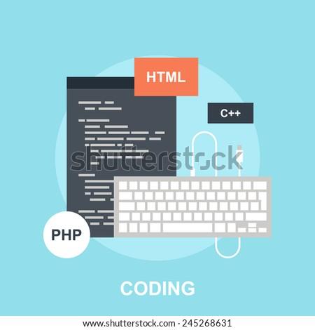 Program Coding - stock vector