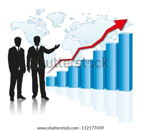 progress presentation - stock vector