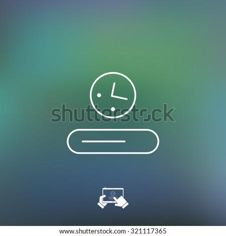 Progression bar icon - stock vector