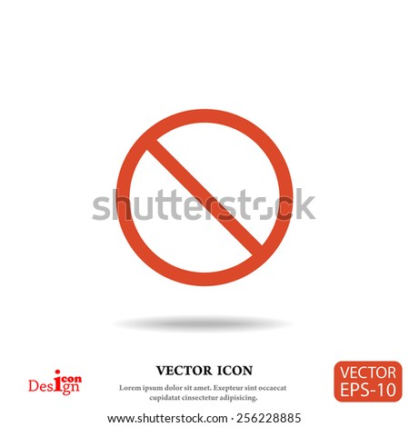 prohibit vector icon - stock vector