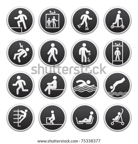 Prohibited Signs vector - stock vector