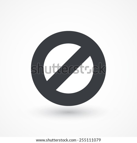 Prohibition Icon - stock vector
