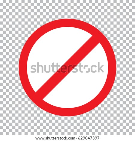 Prohibition Road Sign Stop Icon No Stock Vector 629047397 Shutterstock