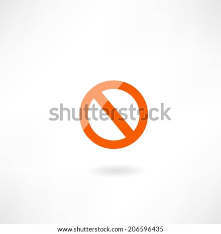 prohibition sign icon - stock vector