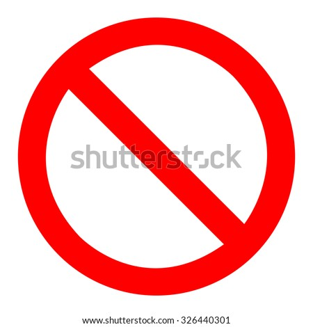 Prohibition Sign Template - stock vector