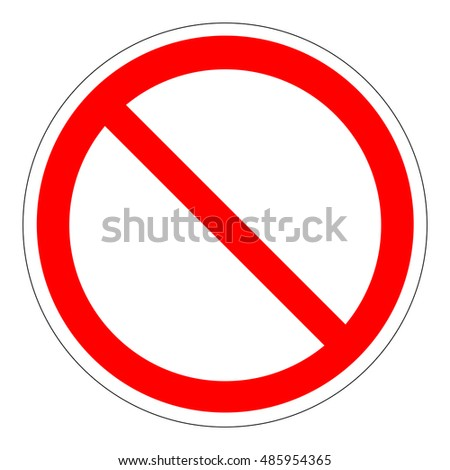 Prohibition Sign Template vector. road sign banned