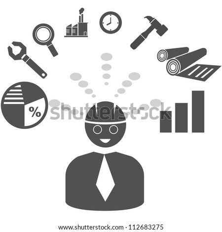 project management, business mapping - stock vector