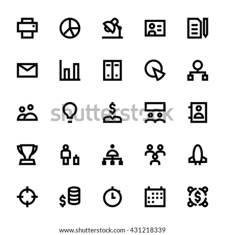 Project Management Vector Icons 2 - stock vector