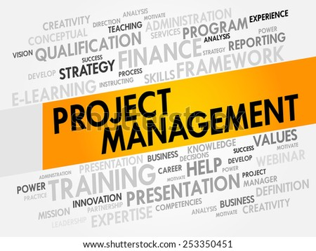 Project Management word cloud, business concept - stock vector