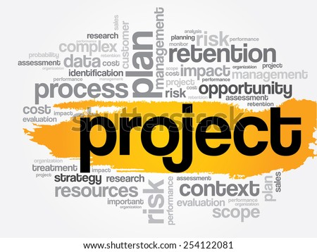 Project word cloud, business concept - stock vector