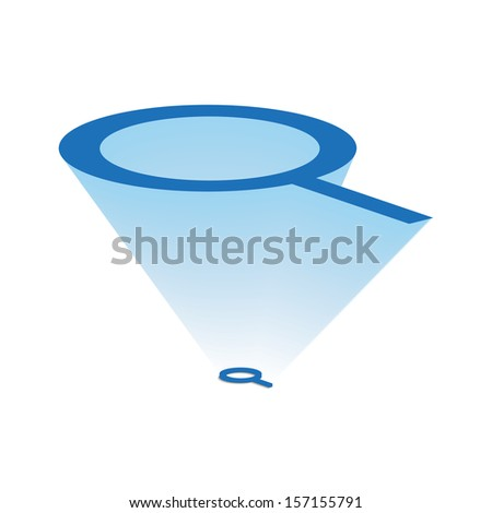 Projection magnifying glass