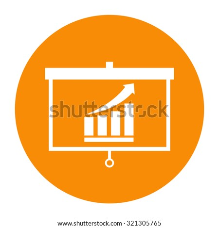 Projector screen with graph - stock vector