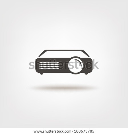 Projector sign icon - stock vector