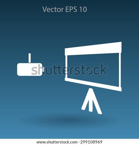 projector vector icon - stock vector