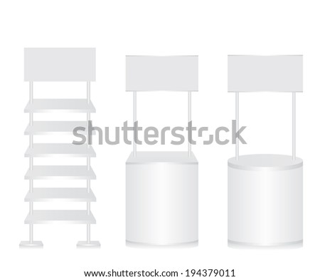 Promotion counter and shelf - stock vector