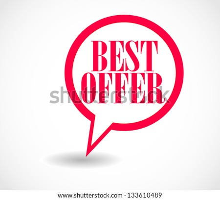 Promotion pointing red sign - stock vector