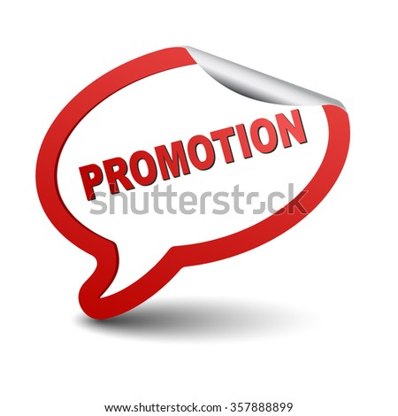 promotion, red vector promotion, red bubble promotion, sticker bubble promotion, element promotion, sign promotion, design promotion, picture promotion, illustration promotion, promotion eps10 - stock vector