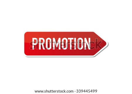 Promotion signboard - stock vector