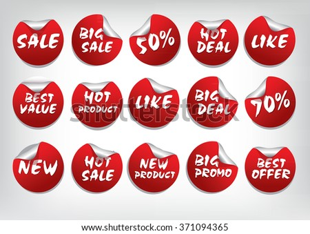 Promotion Tags, Label, Sticker ( Best Deal, Best offer, Like, Discount, Product .etc)