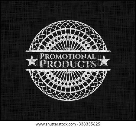 Promotional Products written on a chalkboard - stock vector